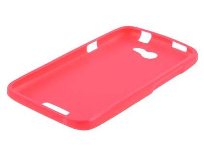 IPODA Glossy Gel Case for HTC One X / XL / X+ - Hot Pink