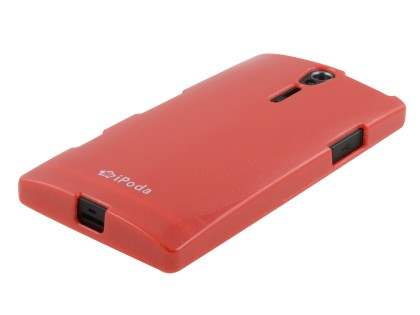 IPODA Glossy Gel Case for Sony Xperia S - Red