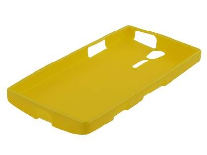 IPODA Glossy Gel Case for Sony Xperia S - Canary Yellow