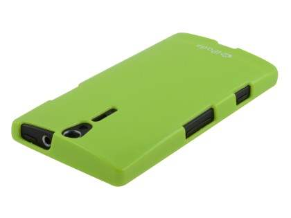IPODA Glossy Gel Case for Sony Xperia S - Lime Green