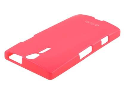 IPODA Glossy Gel Case for Sony Xperia S - Hot Pink