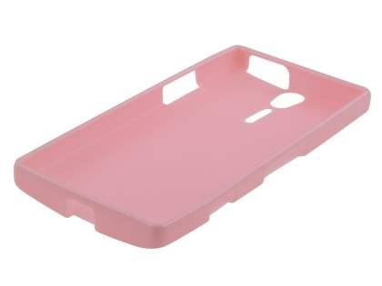 IPODA Glossy Gel Case for Sony Xperia S - Baby Pink