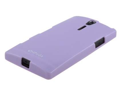 IPODA Glossy Gel Case for Sony Xperia S - Purple