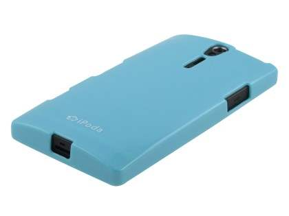 IPODA Glossy Gel Case for Sony Xperia S - Sky Blue