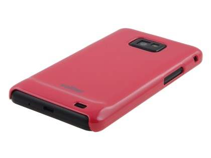 Vollter Ultra Slim Glossy Case plus Screen Protector for Samsung I9100 Galaxy S2 - Amaranth Red