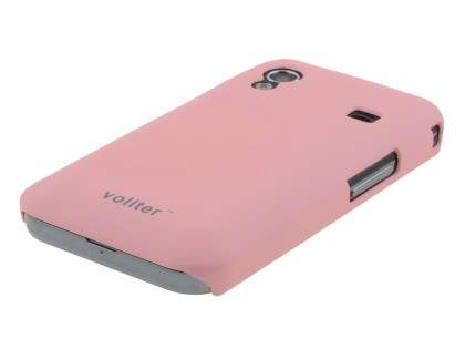 Vollter Samsung Galaxy Ace S5830 Ultra Slim Rubberised Case plus Screen Protector - Baby Pink