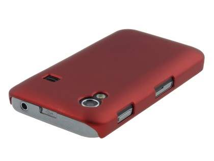 Vollter Samsung Galaxy Ace S5830 Ultra Slim Rubberised Case plus Screen Protector - Red