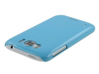 Vollter Ultra Slim Glossy Case plus Screen Protector for HTC Sensation XL - Sky Blue