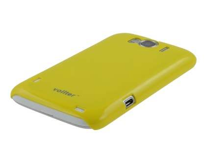 Vollter Ultra Slim Glossy Case plus Screen Protector for HTC Sensation XL - Canary Yellow