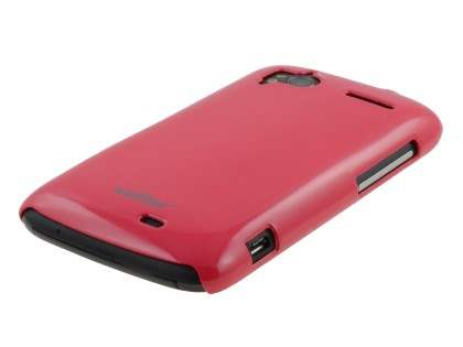 Vollter Ultra Slim Glossy Case plus Screen Protector for HTC Sensation - Amaranth Red