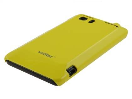 Vollter Ultra Slim Glossy Case plus Screen Protector for HTC Velocity 4G - Canary Yellow