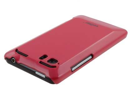 Vollter Ultra Slim Glossy Case for HTC Velocity 4G - Amaranth Red