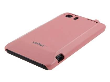 Vollter Ultra Slim Glossy Case plus Screen Protector for HTC Velocity 4G - Baby Pink
