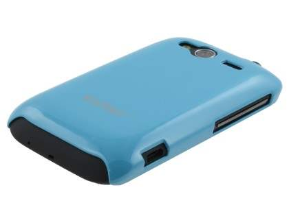 Vollter Ultra Slim Glossy Case for HTC Wildfire S - Sky Blue