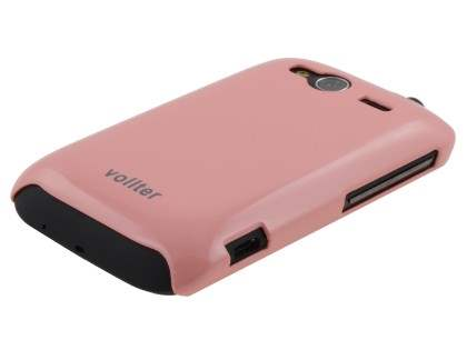 Vollter Ultra Slim Glossy Case plus Screen Protector for HTC Wildfire S - Baby Pink