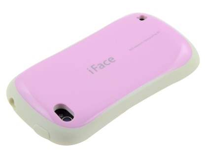 iPhone 4 iFace Dual-Design Case - Pink/White