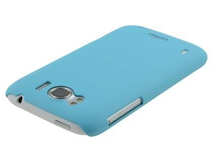 Vollter HTC Sensation XL Ultra Slim Rubberised Case plus Screen Protector - Sky Blue