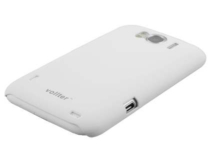 Vollter HTC Sensation XL Ultra Slim Rubberised Case plus Screen Protector - Pearl White