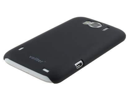 Vollter HTC Sensation XL Ultra Slim Rubberised Case plus Screen Protector - Classic Black