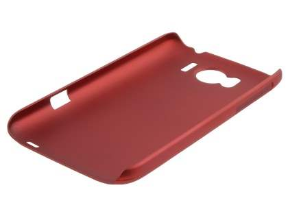Vollter HTC Sensation XL Ultra Slim Rubberised Case plus Screen Protector - Red