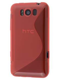 HTC Titan Wave Case - Frosted Red/Red Soft Cover