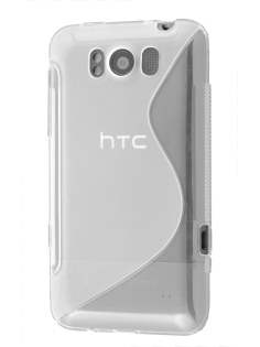 HTC Titan Wave Case - Frosted Clear/Clear Soft Cover