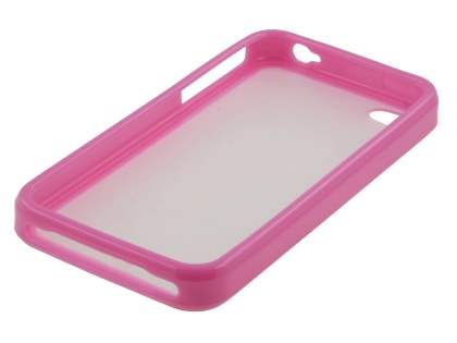 iPhone 4S/4 Dual-Design Case - Pink/Frosted Clear