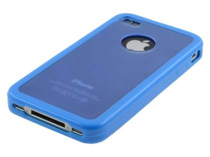 Dual-Design Case for iPhone 4S/4 - Sky Blue/Frosted Blue