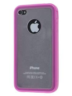 iPhone 4S Dual-Design Case - Pink/Frosted Clear Dual-Design Case