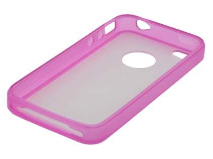 iPhone 4S Dual-Design Case - Pink/Frosted Clear
