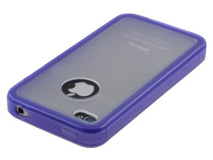 iPhone 4S Dual-Design Case - Purple/Frosted Clear