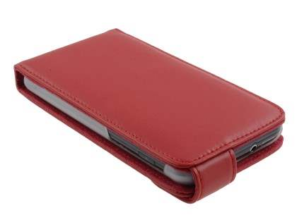 Samsung I9210T Galaxy S II 4G Genuine Leather Flip Case - Red