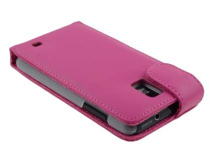 Samsung I9210T Galaxy S II 4G Genuine Leather Flip Case - Pink