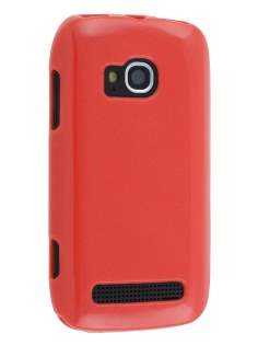 Glossy Gel Case for Nokia Lumia 710 - Red Soft Cover