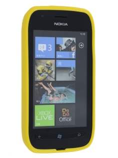 Glossy Gel Case for Nokia Lumia 710 - Canary Yellow