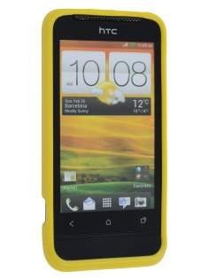 Glossy Gel Case for HTC One V - Canary Yellow