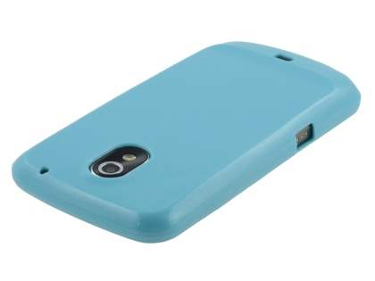Glossy Gel Case for Samsung I9250 Google Galaxy Nexus - Sky Blue