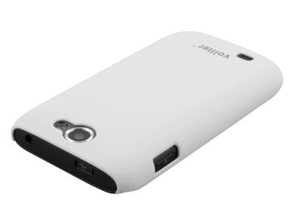 Vollter Samsung Galaxy W I8150 Ultra Slim Case plus Screen Protector - Pearl White