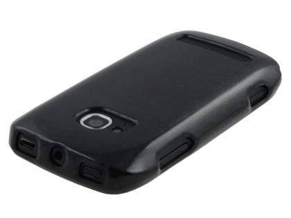 Glossy Gel Case for Nokia Lumia 710 - Classic Black