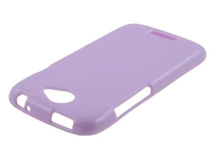 Glossy Gel Case for HTC One S - Light Purple