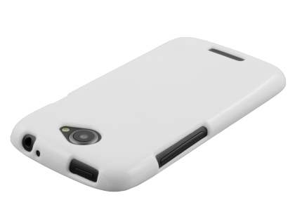 Glossy Gel Case for HTC One S - Pearl White