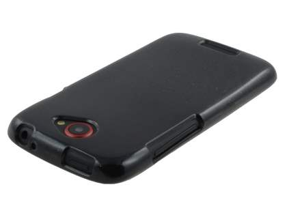 Glossy Gel Case for HTC One S - Classic Black