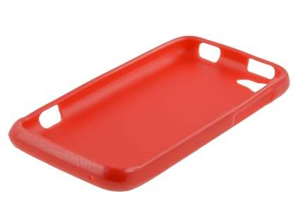 Glossy Gel Case for HTC One V - Red