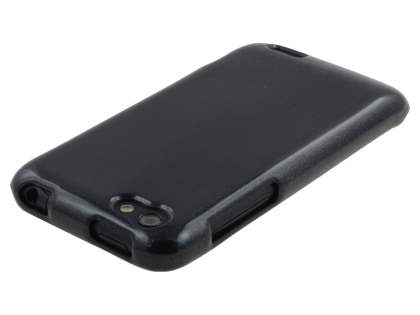Glossy Gel Case for HTC One V - Classic Black