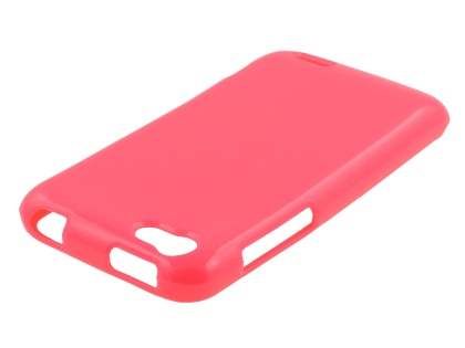 Glossy Gel Case for HTC One V - Pink