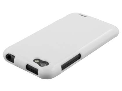 Glossy Gel Case for HTC One V - Pearl White