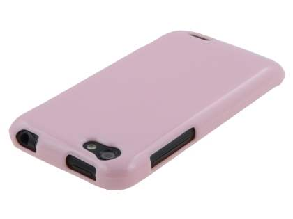 Glossy Gel Case for HTC One V - Baby Pink