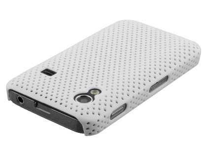 Samsung Galaxy Ace S5830 Slim Mesh Case - Pearl White