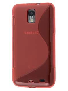 Samsung I9210T Galaxy S II 4G Wave Case - Frosted Red/Red Soft Cover