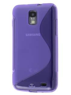 Samsung I9210T Galaxy S II 4G Wave Case - Frosted Purple/Purple Soft Cover